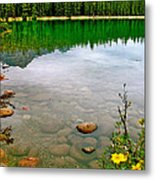 Beauvert Lake In Jasper National Park-alberta-canada Metal Print