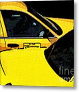 Big Yellow Taxis Metal Print
