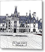 Biltmore Estate Metal Print by Frederic Kohli