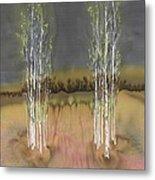 2 Birch Groves Metal Print by Carolyn Doe