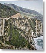 Bixby Bridge Vista Metal Print
