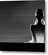 Black And White Artistic Nude Metal Print