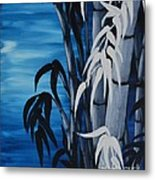 Blue Bamboo Metal Print by Holly Donohoe