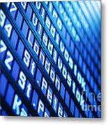 Blue Flight Board Metal Print