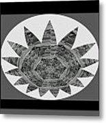 Bnw Black N White Star Ufo Art  Sprinkled Crystal Stone Graphic Decorations Navinjoshi  Rights Manag Metal Print