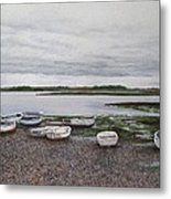 Boats On The Estuary Metal Print