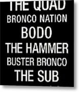 Boise State College Town Wall Art Metal Print