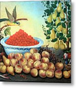 Bond's Still Life Of Bird And Dwarf Pear Tree Metal Print