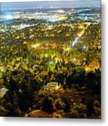 Boulder Colorado City Lights Panorama Metal Print