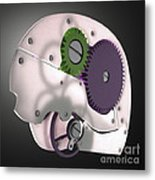 Brain Mechanism Metal Print