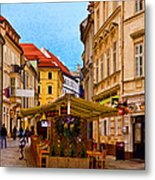 Bratislava Old Town Metal Print