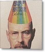 Breaking Bad Walter White Happy Birthday Metal Print