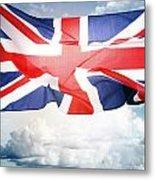 British Flag 3 Metal Print