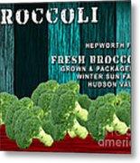 Broccoli Farm Metal Print