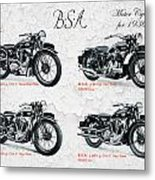 Bsa Motor Cycles For 1936 Metal Print