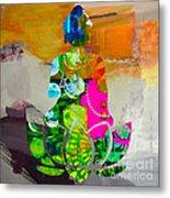 Buddah On A Lotus Metal Print