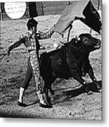 Bull Fight Matador Charging Bull Us-mexico  Border Town Nogales Sonora Mexico 1978-2012 Metal Print