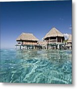 Bungalows Over Ocean Metal Print