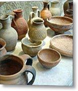 Byzantine Pottery Metal Print