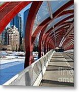 Calgary Peace Bridge Metal Print