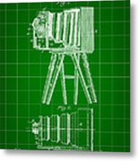 Camera Patent 1885 - Green Metal Print