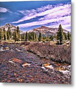 Canadian Rockies Stream Metal Print