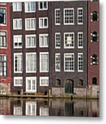 Canal Houses In Amsterdam Metal Print