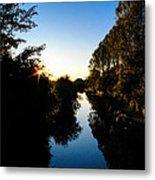 Canal Sunset Metal Print