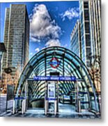 Canary Wharf Station Metal Print