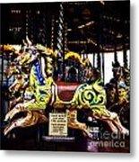 Carousel Horses Metal Print