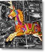 Carousel In Bournemouth Metal Print