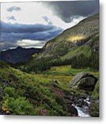 Cascade In Lower Ice Lake Basin Metal Print