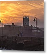Castle Of Saint Sebastian Cadiz Spain Metal Print