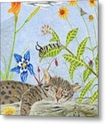 Cat And Mouse Metal Print by Gerald Strine