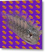 Cat Trip Pop 002 Limited Metal Print