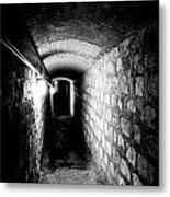 Catacomb Tunnels In Paris France Metal Print