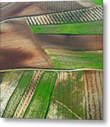 Cereal Fields From The Air Metal Print