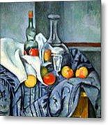Cezanne's The Peppermint Bottle Metal Print