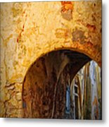 Chania Alley Metal Print