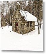 Chapel In The Woods Stowe Vermont Metal Print