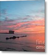 Charleston Harbor Sunset Metal Print
