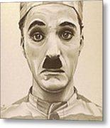 Vintage Charlie Chaplin Metal Print