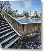 Charlotte North Carolina Marshall Park In Winter Metal Print