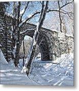 Cheshire Railroad Bridge Metal Print