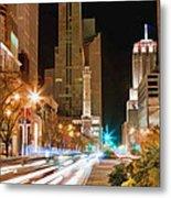 Chicago Michigan Avenue Light Streak Metal Print