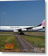 China Airlines Airbus A340 Metal Print