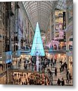 Christmas Shopping In Toronto Metal Print