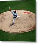 Cincinnati Reds V Washington Nationals 2 Metal Print