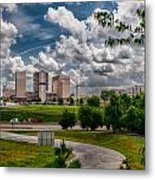 City Streets Of Charlotte North Carolina Metal Print