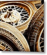 Classic Wheels Metal Print